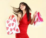请求性感的购物妇女 免版税库存图片