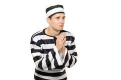 请求的广告囚犯 免版税库存图片