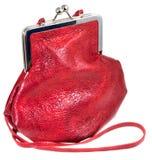 请求被塑造的夫人小皮革老的红色s 免版税库存图片