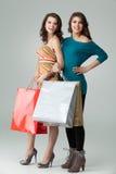 请求购物少量的藏品新二名的妇女 免版税图库摄影