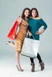 请求购物少量的藏品新二名的妇女 库存照片