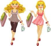 请求blonds另外发型购物 库存例证