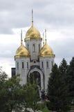 诸圣日东正教在伏尔加格勒,俄罗斯 免版税库存照片