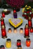 诸圣日天, Mirogoj公墓在萨格勒布 免版税库存图片
