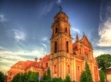 诸圣日教会在维尔纽斯 库存图片