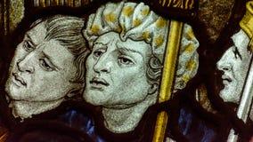 诸圣日教会彩色玻璃圣母堂B关闭我 库存图片