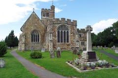 诸圣日教会, Biddenden,肯特,英国 免版税库存照片
