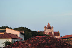 诸圣日英国国教的教堂在加勒,斯里兰卡 免版税图库摄影