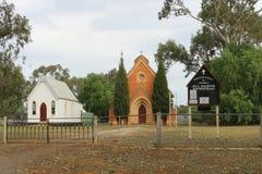 诸圣日英国国教的教堂(1868)也是音乐会和违规记录的一个地点在活每年的Newstead期间!民间节日 免版税库存照片