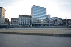 诺丁汉市中心在英国-欧洲 图库摄影
