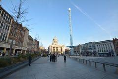 诺丁汉市中心在英国-欧洲 免版税图库摄影