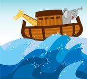 诺亚平底船 库存图片