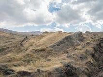 诺亚` s平底船亚拉腊山的开掘站点 免版税库存图片