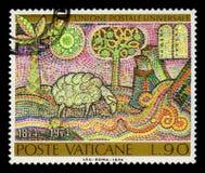 诺亚` s平底船的圣经的故事的镶象 库存图片