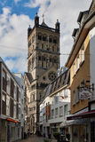 诺伊斯,德国- 2016年4月04日:Quirinus曼斯特是一个著名教会在诺伊斯 库存图片