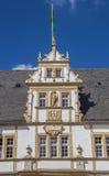 诺伊豪斯城堡的装饰的门面在帕德博恩 库存图片