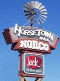 诺克加利福尼亚- Horsetown美国-城市标志 库存照片
