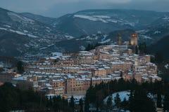 诺切劳恩布拉是一个小的中世纪村庄在意大利 免版税图库摄影