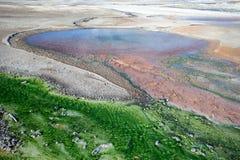 诺哩斯喷泉水池黄石,怀俄明,美国 图库摄影
