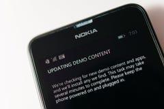 诺基亚Lumia微软Widowsphone 库存照片