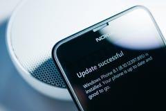 诺基亚Lumia微软Widowsphone 免版税库存图片