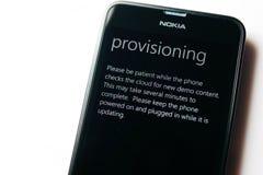 诺基亚Lumia微软Widowsphone 免版税库存照片