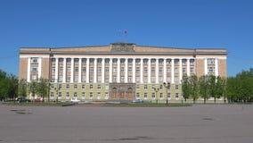 诺夫哥罗德地区的政府的大厦在索非亚广场的 novgorod veliky的俄国 股票视频