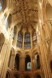 诺威治显示天花板上司的大教堂内部 库存照片