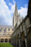 诺威治大教堂修道院&尖顶,诺福克,英国 免版税库存图片
