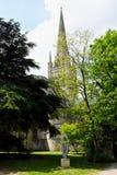诺威治大教堂尖顶,诺福克,英国 库存图片