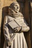 诺威治大教堂母亲朱利安雕塑 免版税库存图片