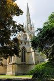 诺威治大教堂&尖顶,诺福克,英国 图库摄影