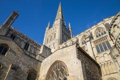 诺威治大教堂 免版税库存照片