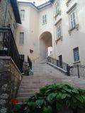 诺尔恰,翁布里亚,意大利细节  免版税图库摄影