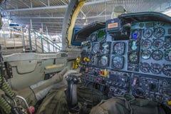 诺思罗普f-5a自由战斗机、驾驶舱和仪表盘 免版税库存照片