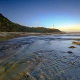 诺拉头中海岸的灯塔,NSW,澳大利亚 免版税库存照片