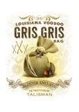 诺拉汇集路易斯安那伏都教Gris Gris袋子背景 免版税库存照片