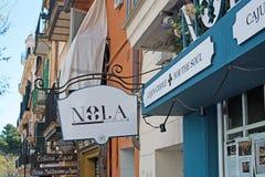 诺拉Cajun克里奥尔人餐馆 库存图片