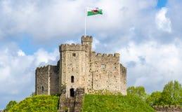 诺曼底人保持加的夫城堡 库存照片
