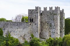 诺曼底人在埃里切的金星城堡 库存照片