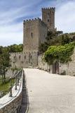 诺曼底人在埃里切,西西里岛的金星城堡 免版税库存图片