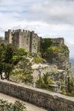 诺曼底人在埃里切,西西里岛的金星城堡 库存照片
