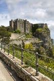 诺曼底人在埃里切,西西里岛的金星城堡 免版税库存照片