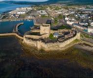 诺曼底城堡在贝尔法斯特附近的Carrickfergus 免版税库存照片