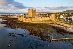 诺曼底城堡在贝尔法斯特附近的Carrickfergus 免版税图库摄影