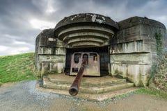 诺曼底德国防御火炮枪在法国 图库摄影