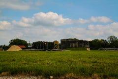 诺曼底,法国;2014年6月4日:阿泽维尔电池 德国电池的安置在第二次世界大战期间的在诺曼底,法国 库存照片