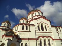 诺沃阿多斯Simono-Kananitsky修道院 新阿丰  免版税库存照片