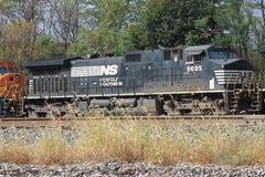 诺福克南部的机车9695 免版税库存图片