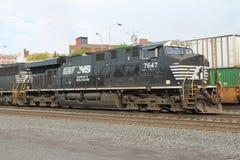 诺福克南部的机车7647 免版税库存图片